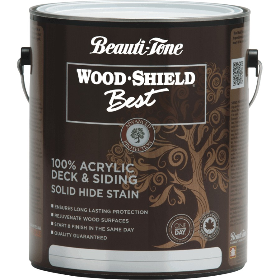 Beauti-tone Wood Shield Best 3.64L Acrylic Deck and Siding Solid Stain White Base