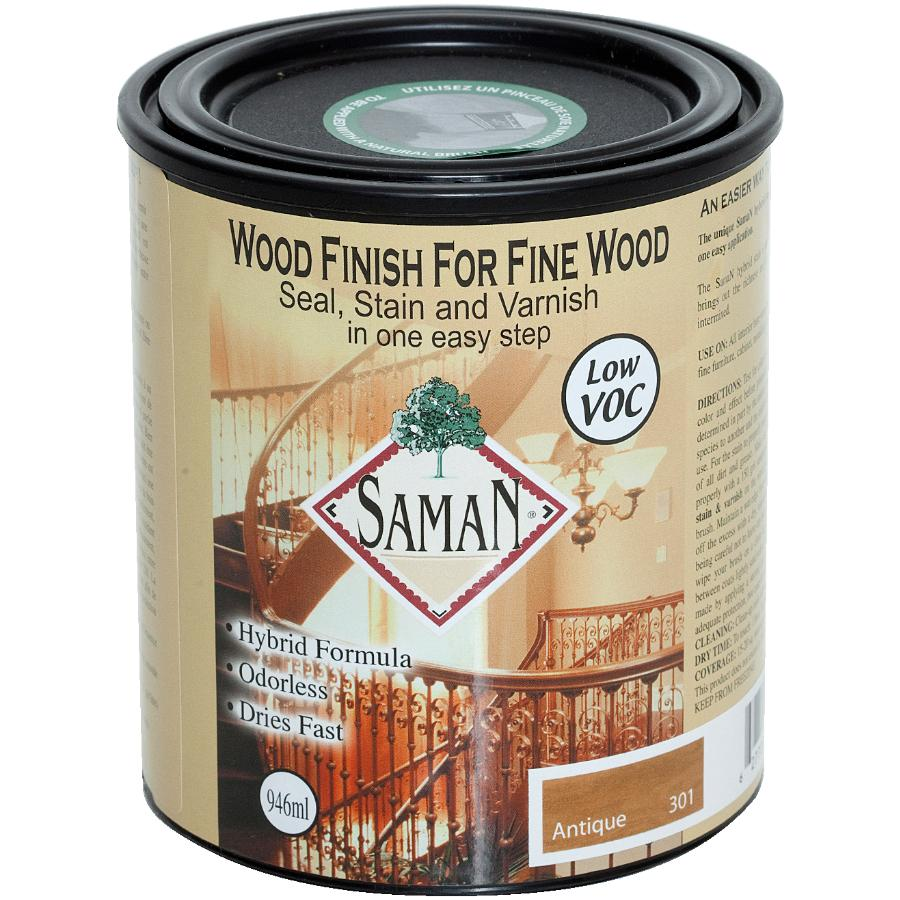 Saman 946mL Antique Interior Oil Based Seal Stain and Varnish Satin Alkyd Finish
