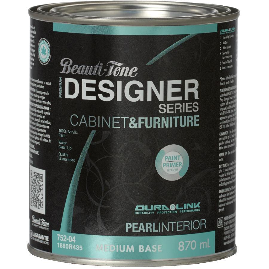 Beauti-tone Designer Series 870mL Cabinet and Furniture Medium Base Interior Acrylic Paint