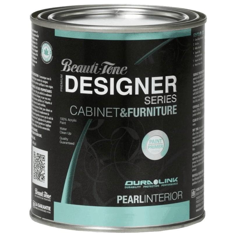 Beauti-tone Designer Series 946mL Cabinet and Furniture Black Interior Acrylic Paint