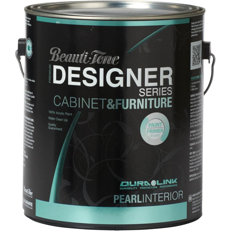 Beauti-tone Designer Series 3.78L Cabinet and Furniture Black Interior Acrylic Paint