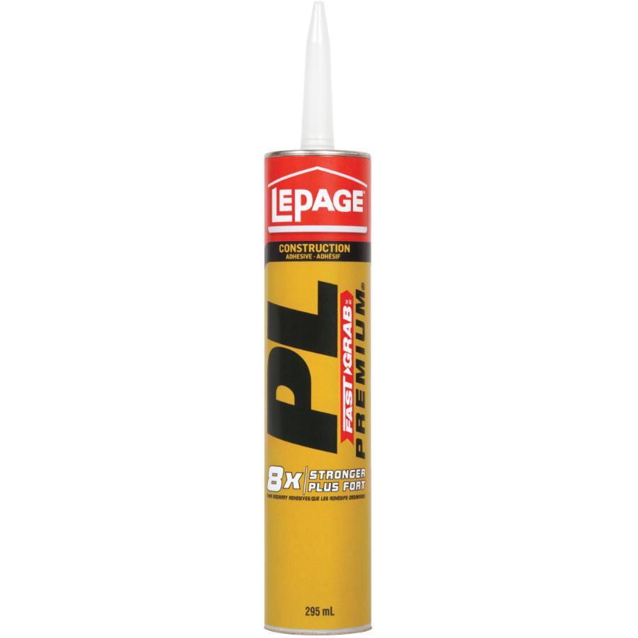 Lepage 295mL PL Premium Fast Grab Multi Purpose Construction Adhesive