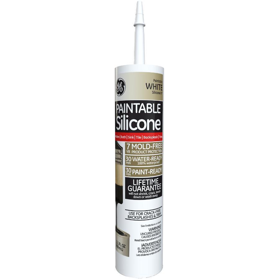 Ge 299ml White Paintable Kitchen & Bath Silicone II Sealant