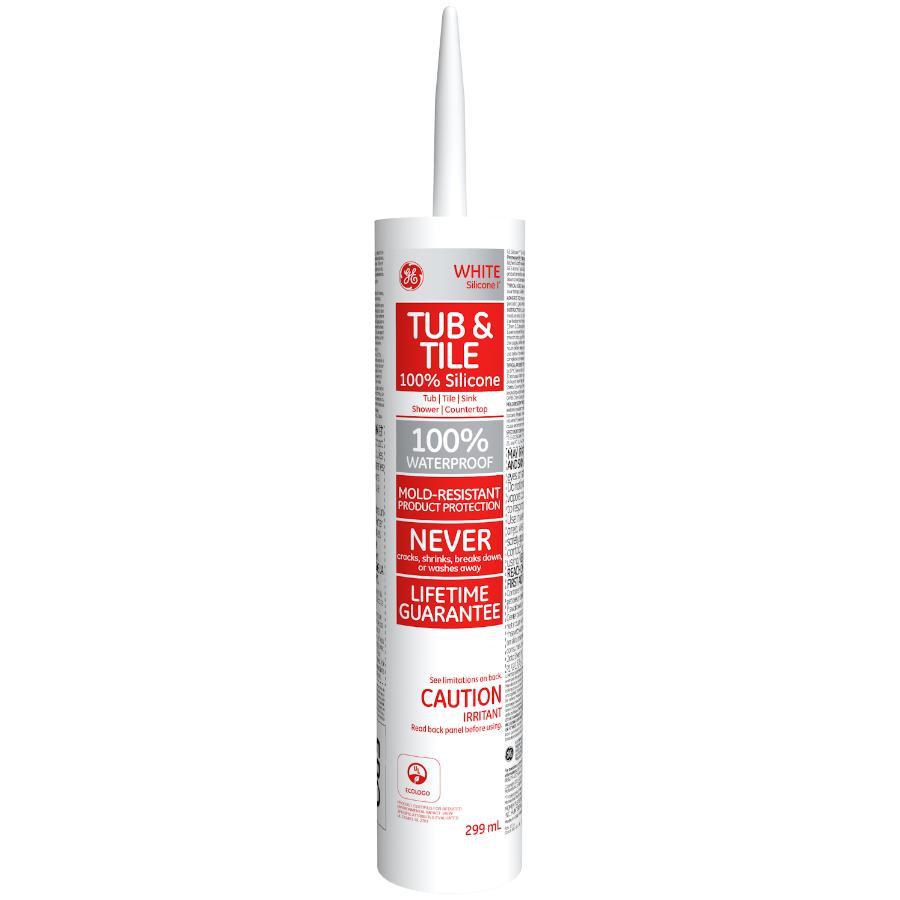 Ge Tub & Tile Silicone Sealant - White, 299 ml