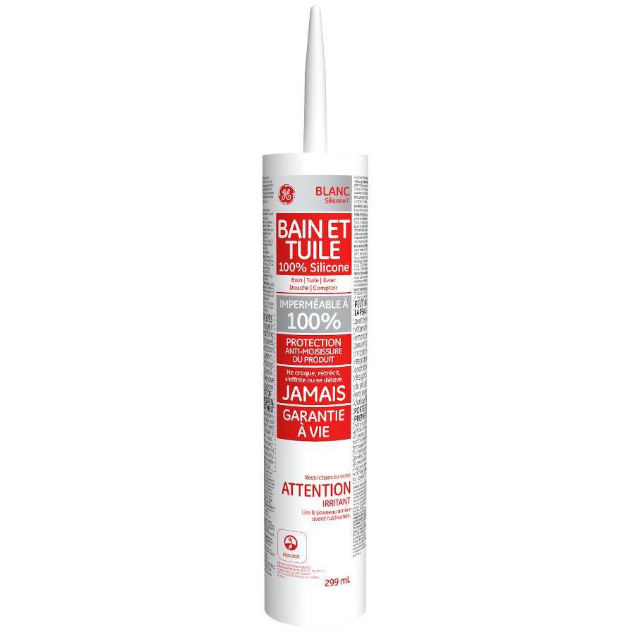 Ge: Tub & Tile Silicone Sealant - White, 299 ml