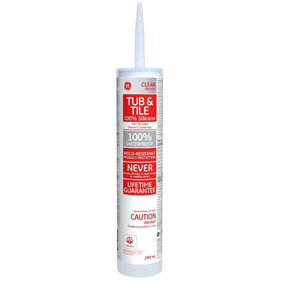 Ge Tub & Tile Silicone Caulking - Clear, 299 ml