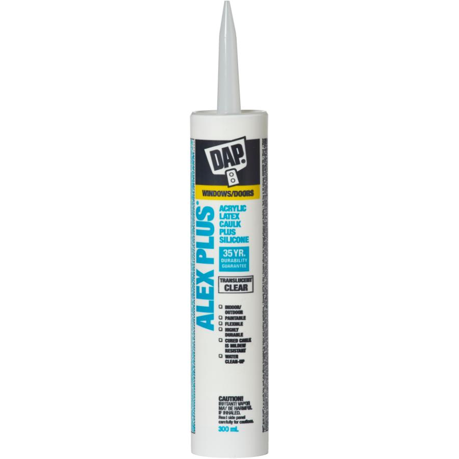 Dap: 300mL Alex Plus Clear All Purpose Acrylic Caulking