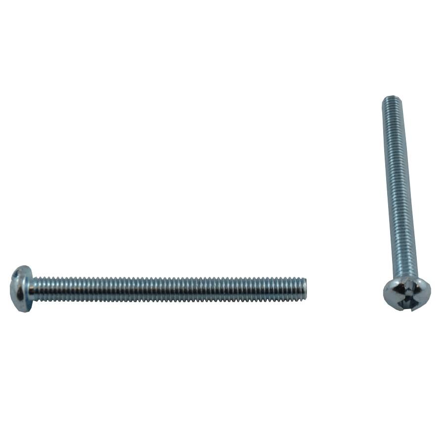 """Home Pak 10 Pack #10-32 x 2"""" Zinc Plated Round Machine Screws"""