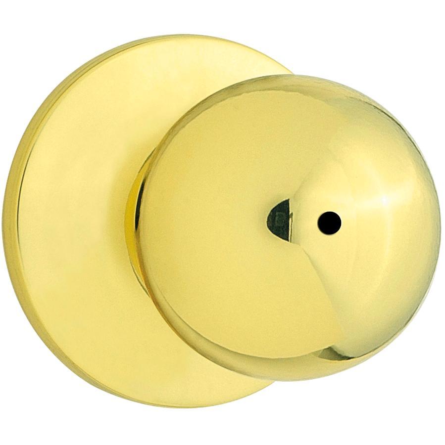 Weiser Lock Polished Brass Regina Safelock Privacy Door Knobset