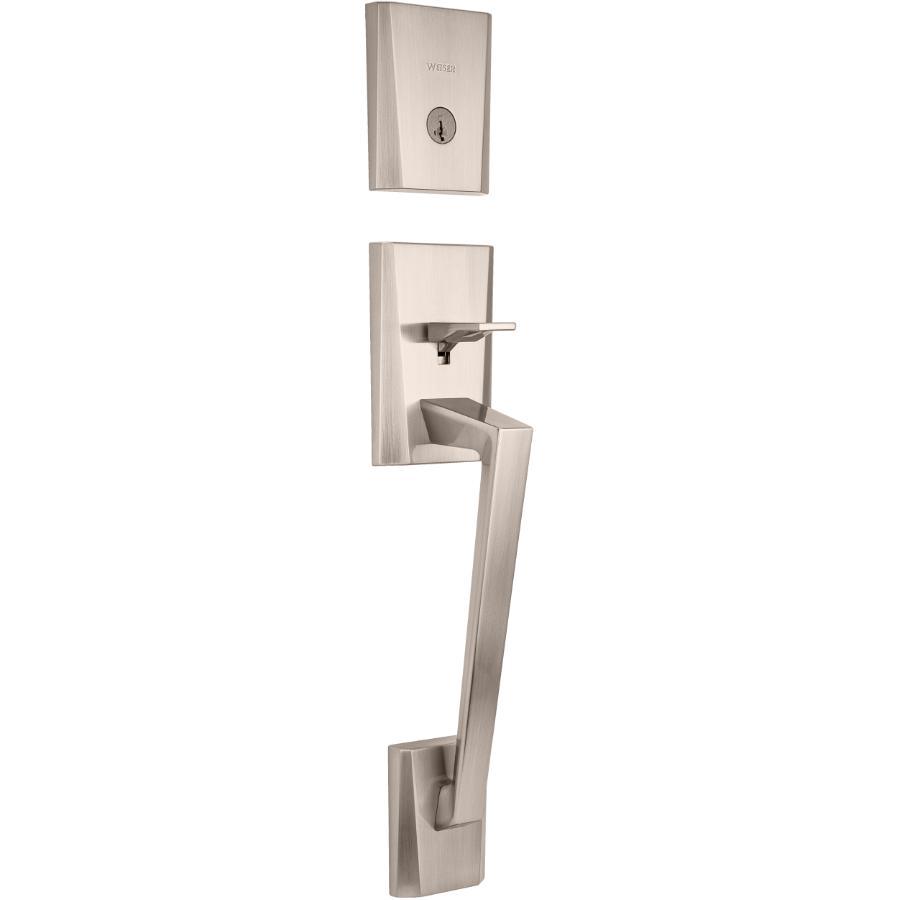 Weiser Lock Satin Nickel Camino/Halifax Smart Key Entrance Gripset