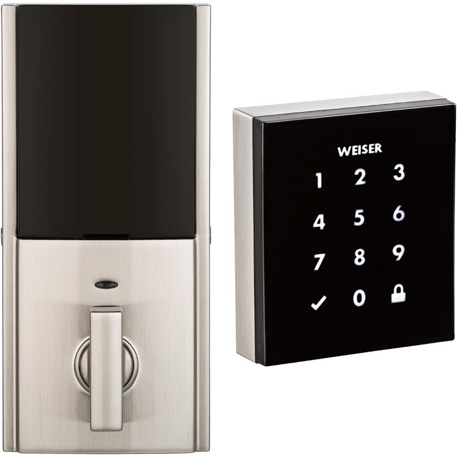 Weiser Lock Satin Nickel Obsidian Electronic Touch Screen Deadbolt Lock