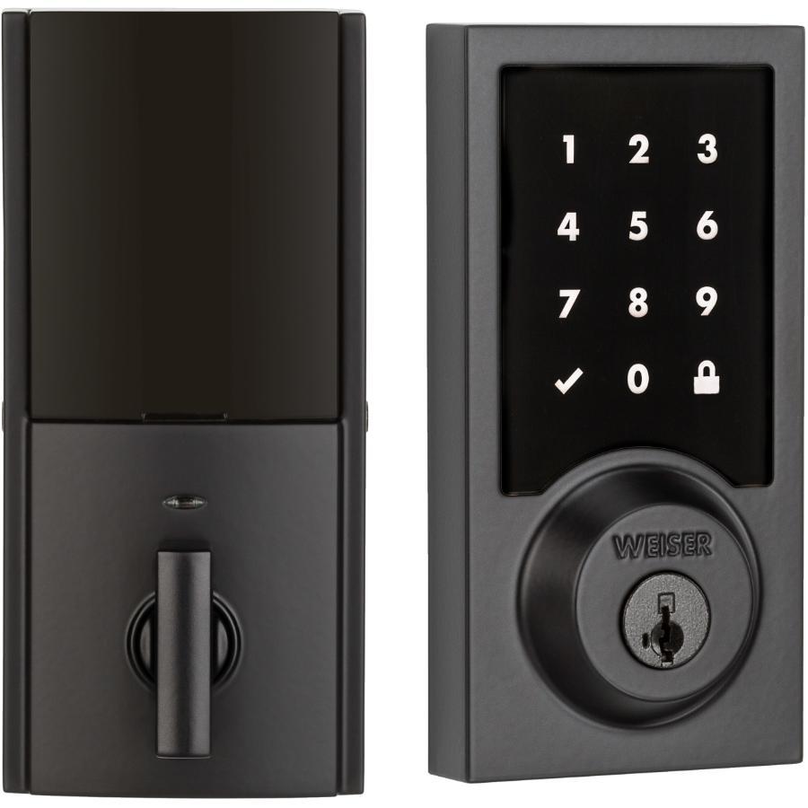 Weiser Lock Iron Black Premis Electronic Touch Screen Deadbolt Lock