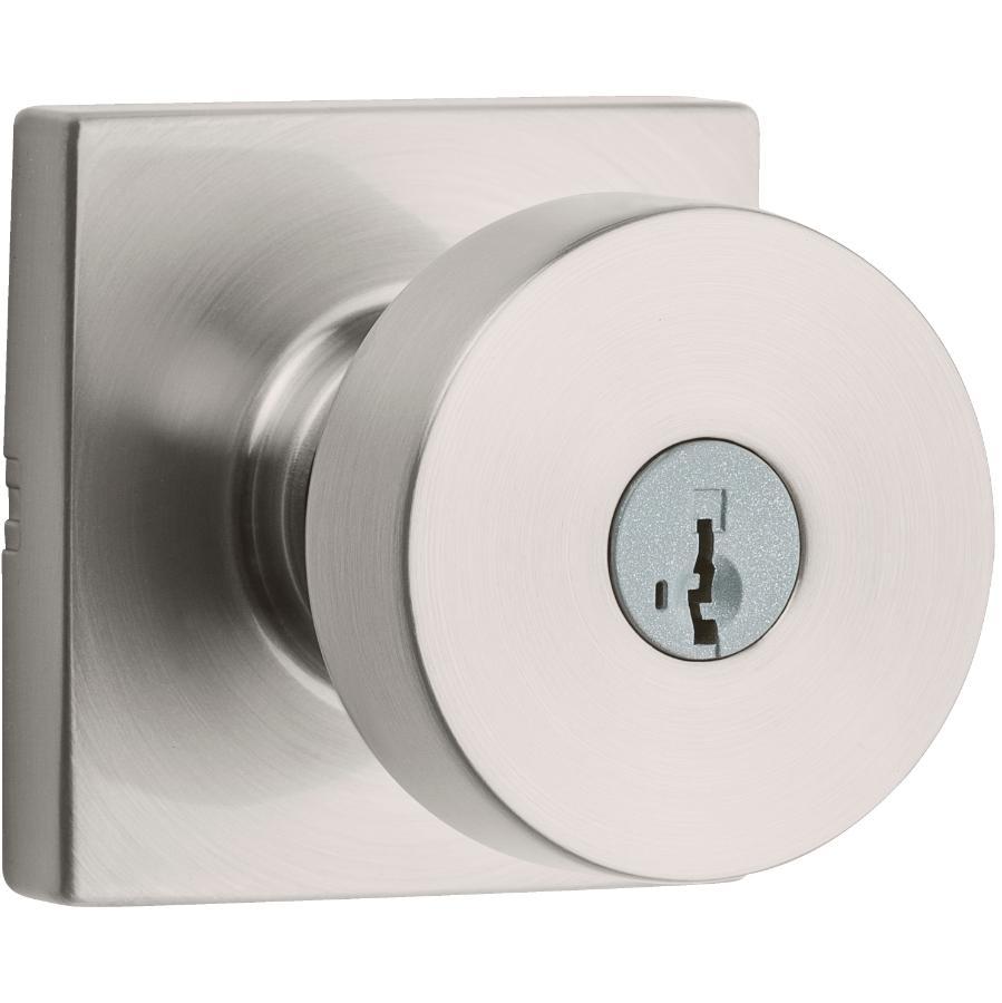 Weiser Lock Satin Nickel Cambie Smart Key Entrance Knobset