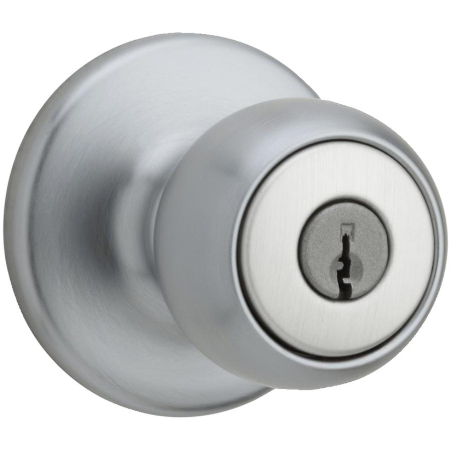 Weiser Lock: Satin Chrome Fairfax Smart Key Entrance Knobset