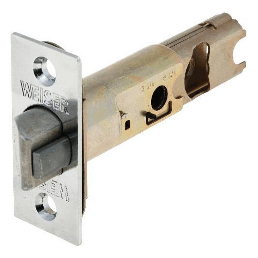 Weiser Lock 6 Way Satin Chrome Deadlock Backset Latch