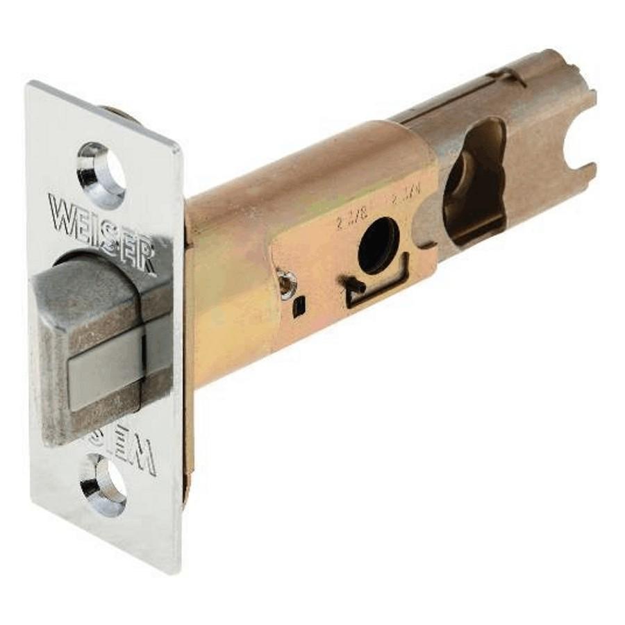 Weiser Lock Satin Chrome Spring Door Backset Latch