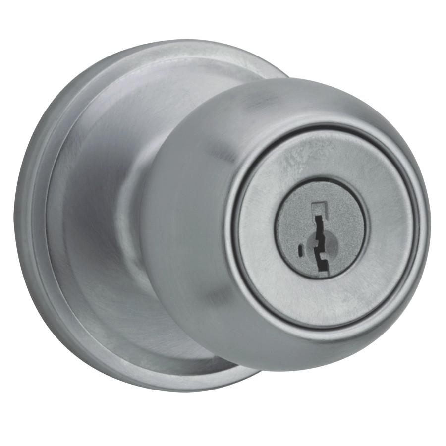 Weiser Lock Satin Chrome Huntington Smart Key Entrance Knobset