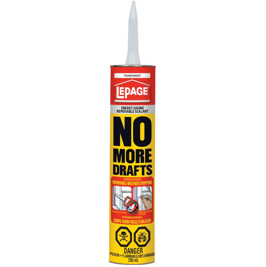 Lepage 295mL No More Drafts Removable Sealant
