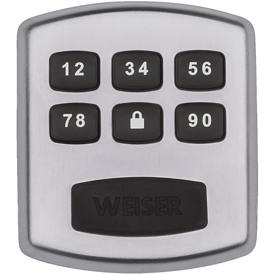 Weiser Lock Satin Chrome Electronic Powerbolt Deadbolt Lock