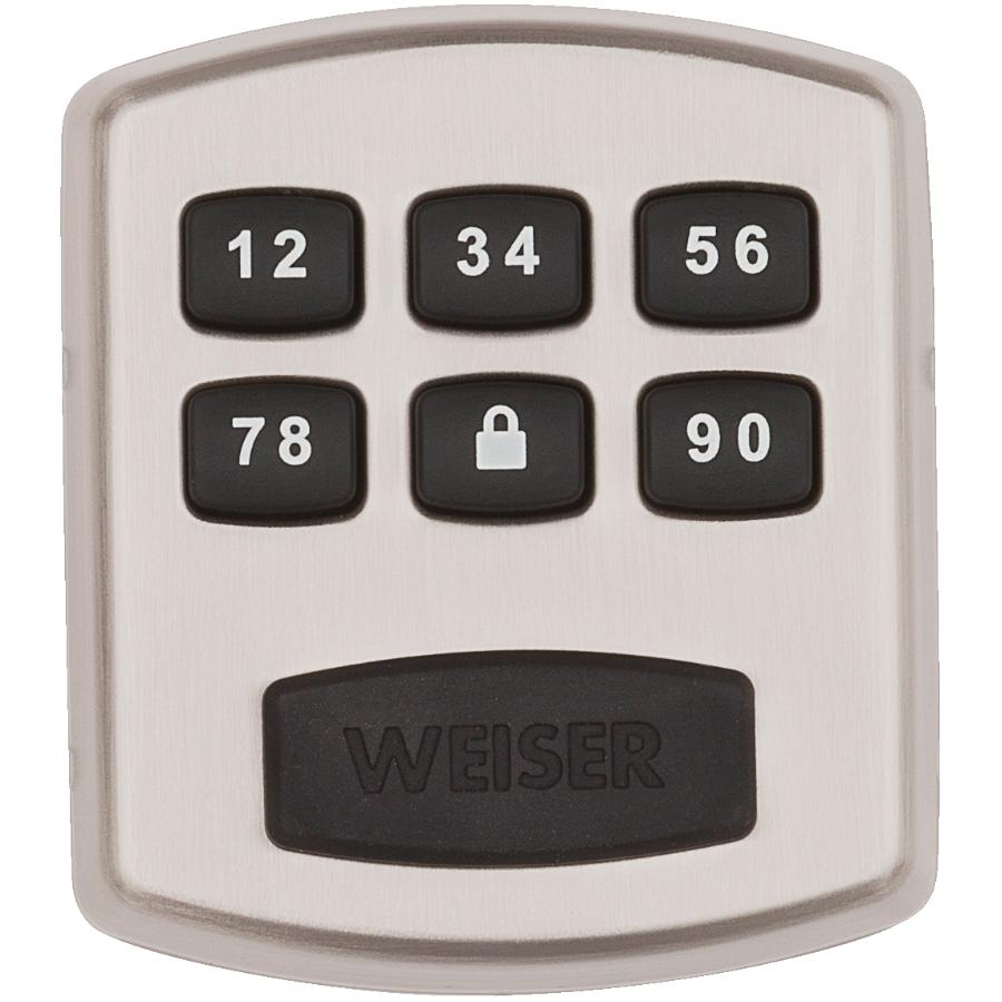Weiser Lock Powerbolt Electronic Deadbolt Lock - Satin Nickel