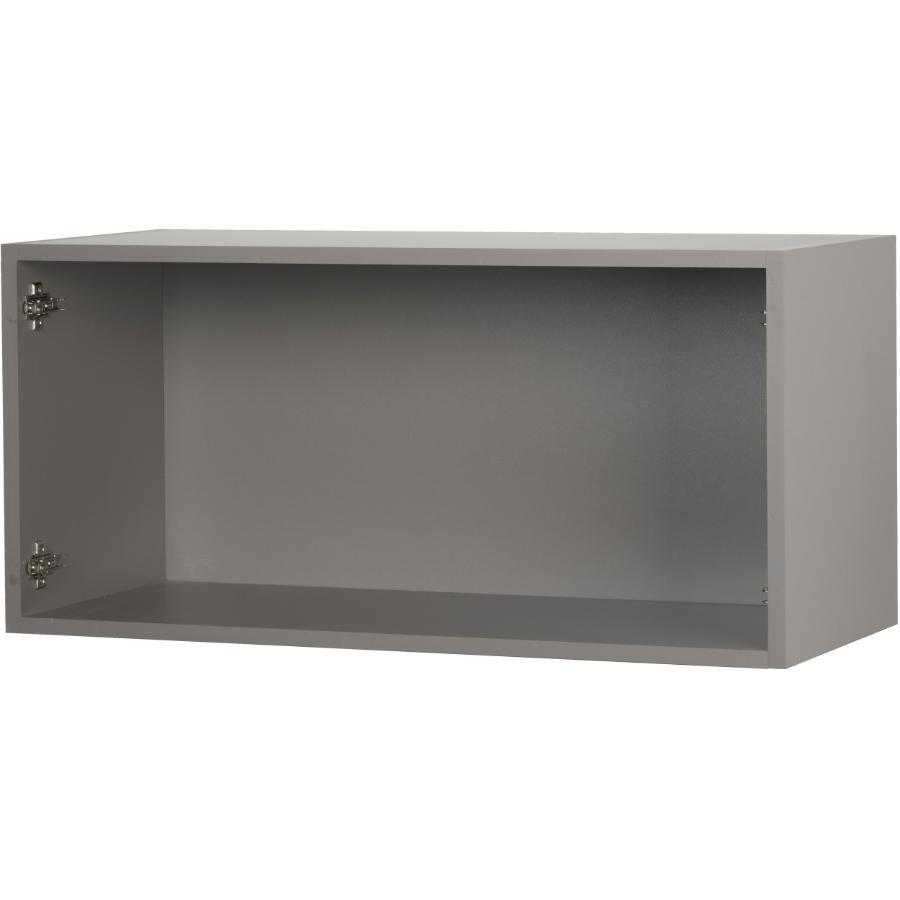 "Cutler Kitchen & Bath 30"" x 15"" Grey Knockdown Wall Bridge Cabinet"