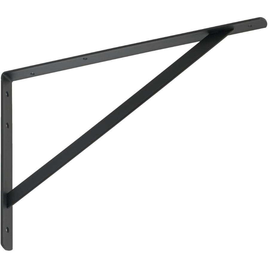 "Builder's Hardware 10"" x 16"" Heavy Duty Black Shelf Bracket"