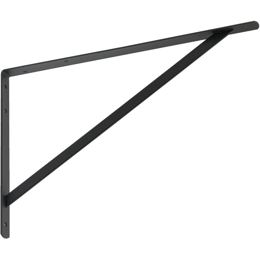 "Builder's Hardware 13"" x 20"" Heavy Duty Black Shelf Bracket"