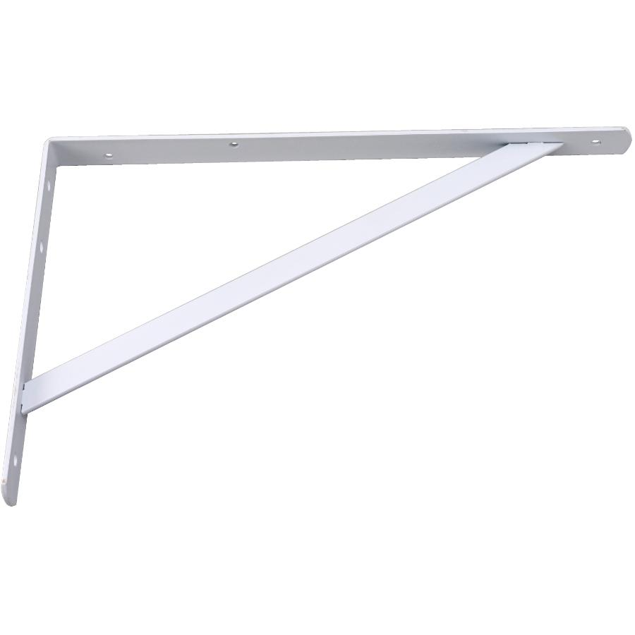 "Builder's Hardware 10"" X 16"" Heavy Duty White Shelf Bracket"
