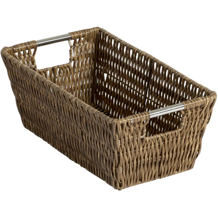 "Whitmor 11.4"" x 6.5"" x 4.5"" Dark Storage Basket"