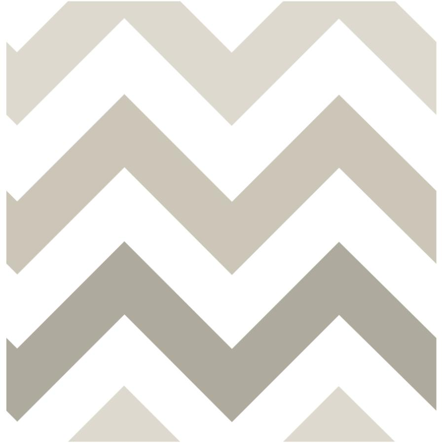"""Wallpops 20.5"""" x 18' Taupe Zig Zag Peel and Stick Wallpaper"""