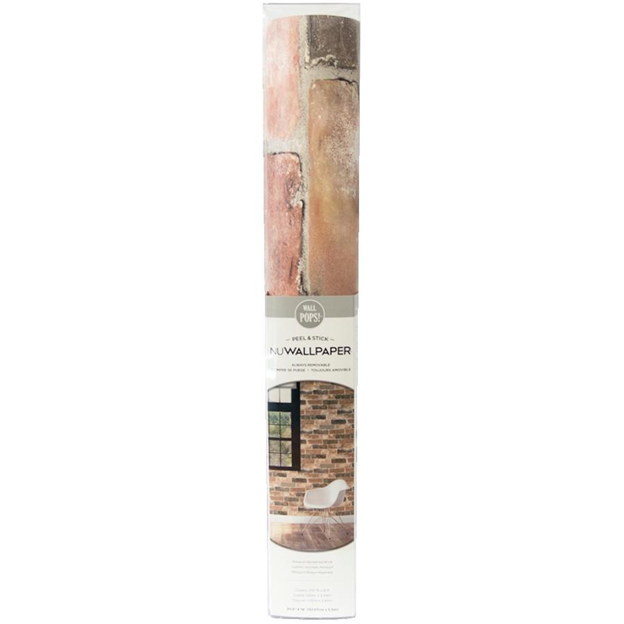 """Wallpops: 20.5"""" x 18' Newport Reclaimed Brick Peel and Stick Wallpaper"""