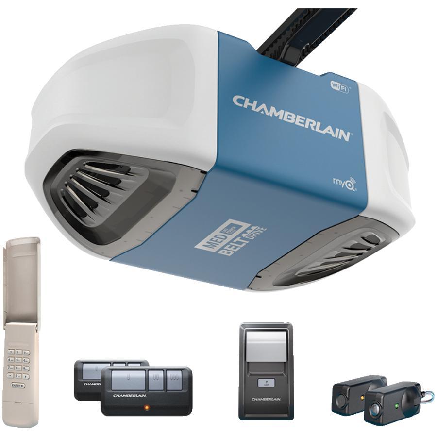 Chamberlain 1/2 Horsepower MyQ Belt Garage Door Opener, with Wifi