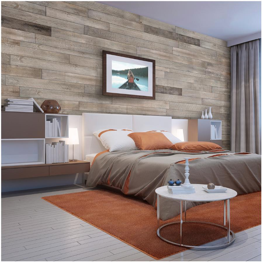 As-is Brand White-ish Pine Wood Wall Paneling, covers 20 sq. ft.