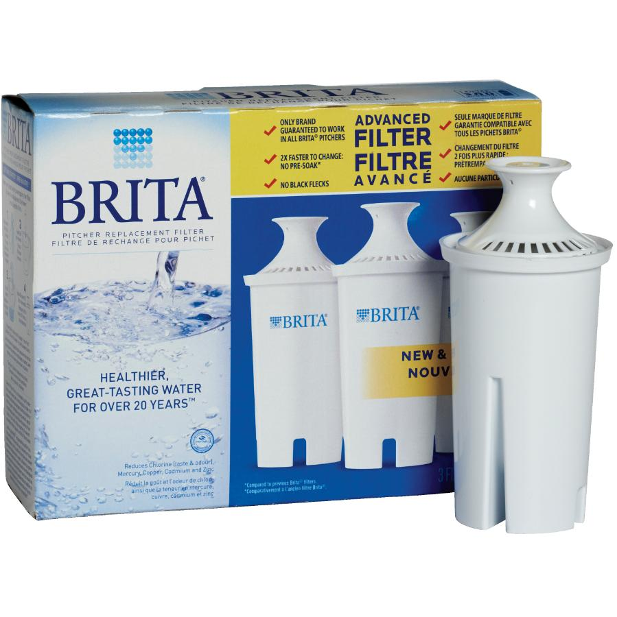 Brita: 3 Pack Replacement Filters for Brita Water Pitchers