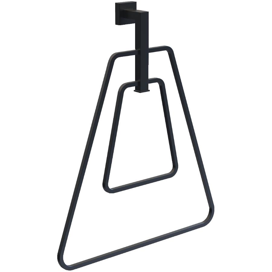 15west Wright Double Triangle Towel Ring - Matte Black