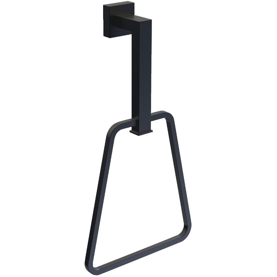15west Wright Triangle Towel Ring - Matte Black