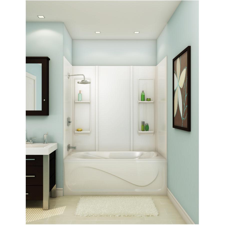 """Maax 59"""" Elan White Tub Wall"""