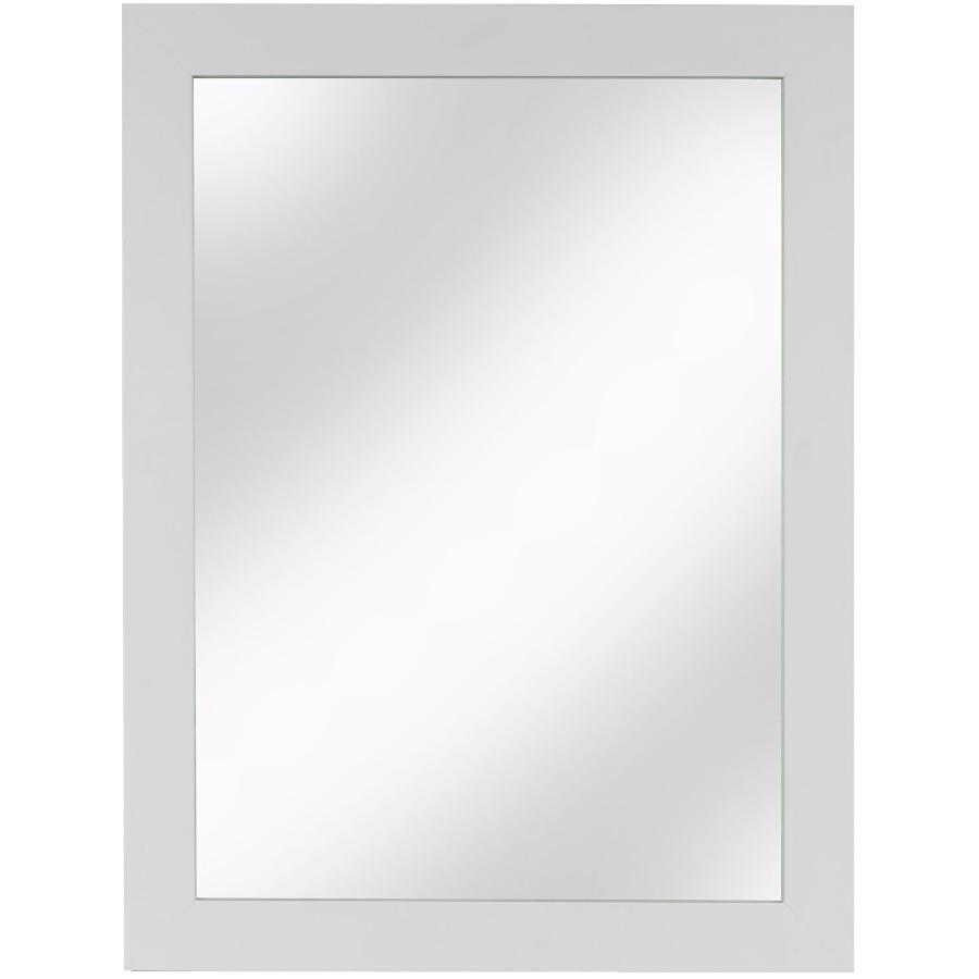 """Cutler Kitchen & Bath 23"""" x 30"""" White Shaker Style Wall Mount Mirror"""