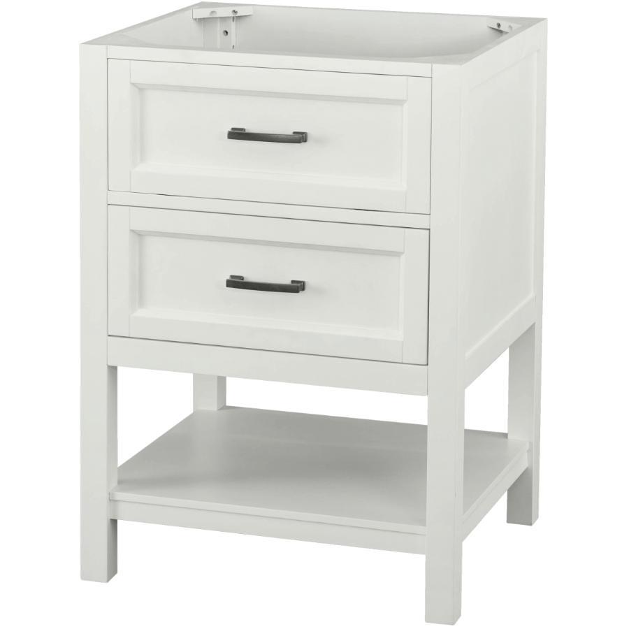"FOREMOST 24"" x 22"" Georgette 1 Drawer + 1 Shelf White Vanity"
