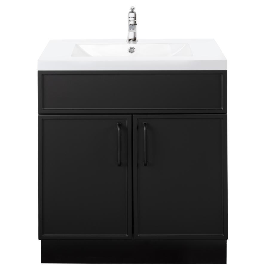 """Cutler Kitchen & Bath 30"""" 2 Door Spencer Vanity - with Cultured Marble Top, Black"""