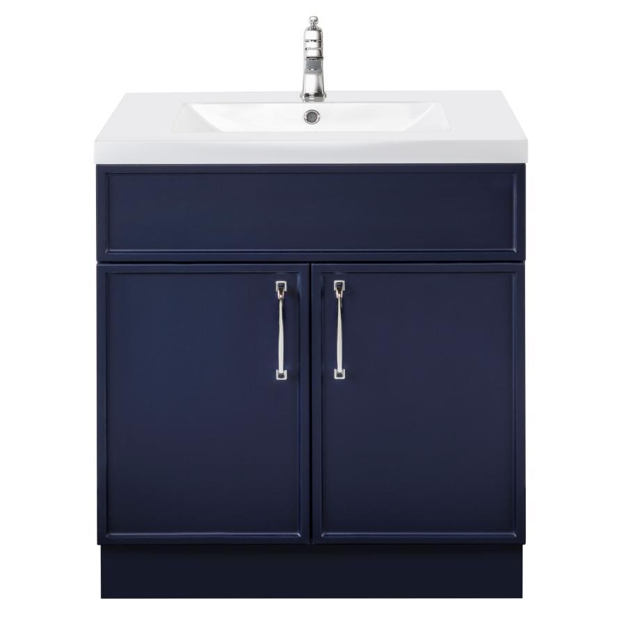 """Cutler Kitchen & Bath 30"""" 2 Door Spencer Vanity - with Cultured Marble Top, Blue"""