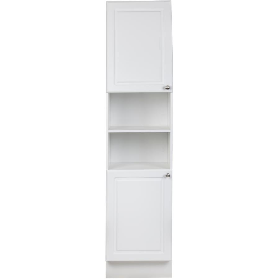 """Cutler Kitchen & Bath: 15"""" D x 18"""" W x 80"""" H 2 Door Halifax White Linen Cabinet"""