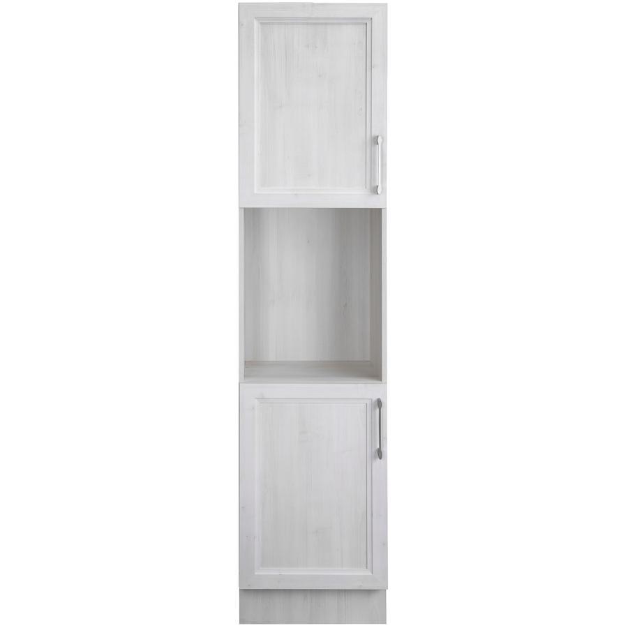 """Cutler Kitchen & Bath 15"""" D x 18"""" W x 80"""" H Cashmere Antique White Wash 2 Door Linen Cabinet"""