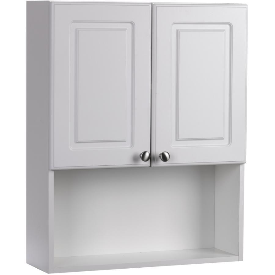 """Cutler Kitchen & Bath 24"""" x 30"""" Two Door White Halifax Medicine Cabinet"""