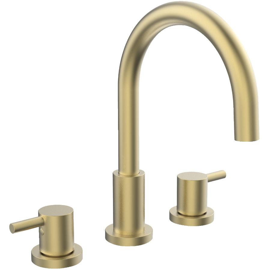 Essential Delphi Widespread Two Handle Lavatory Faucet - Matte Gold