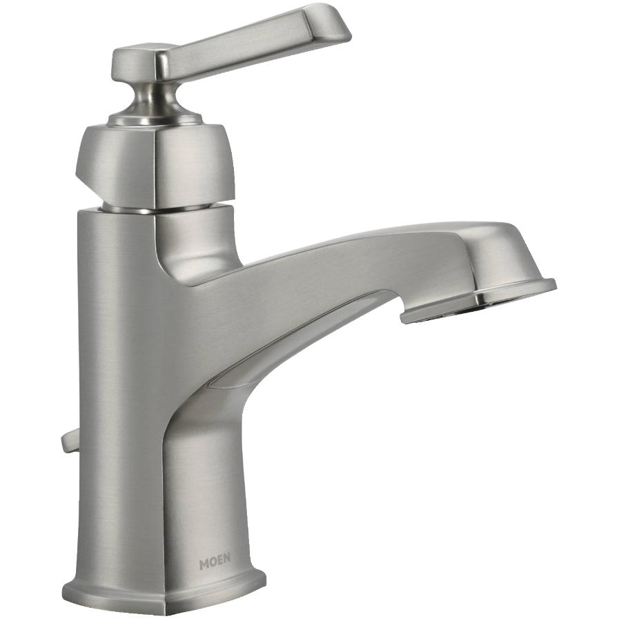 Moen Boardwalk 1+3 Hole 1 Lever Handle Spot Resist Brushed Nickel Lavatory Faucet