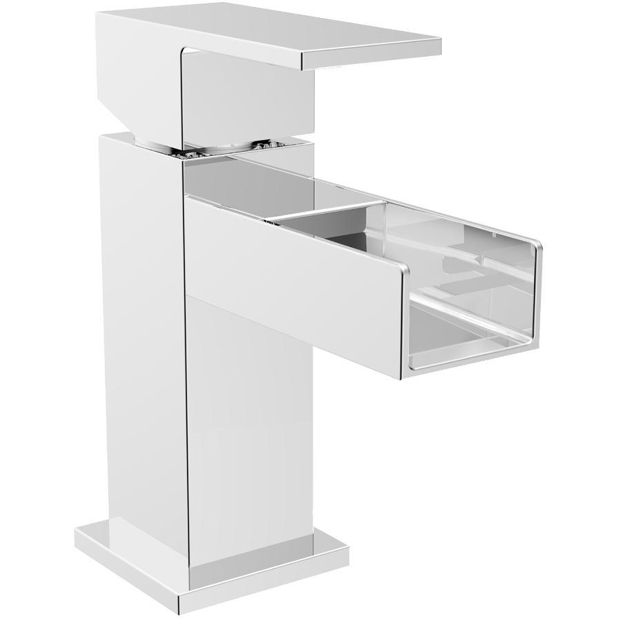 Essential: 1 Hole 1 Lever Handle Quadrato Chrome Lavatory Faucet