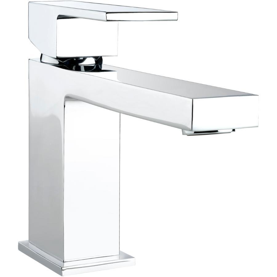Essential 1+3 Hole 1 Lever Handle Quadrato Chrome Square Design Lavatory Faucet