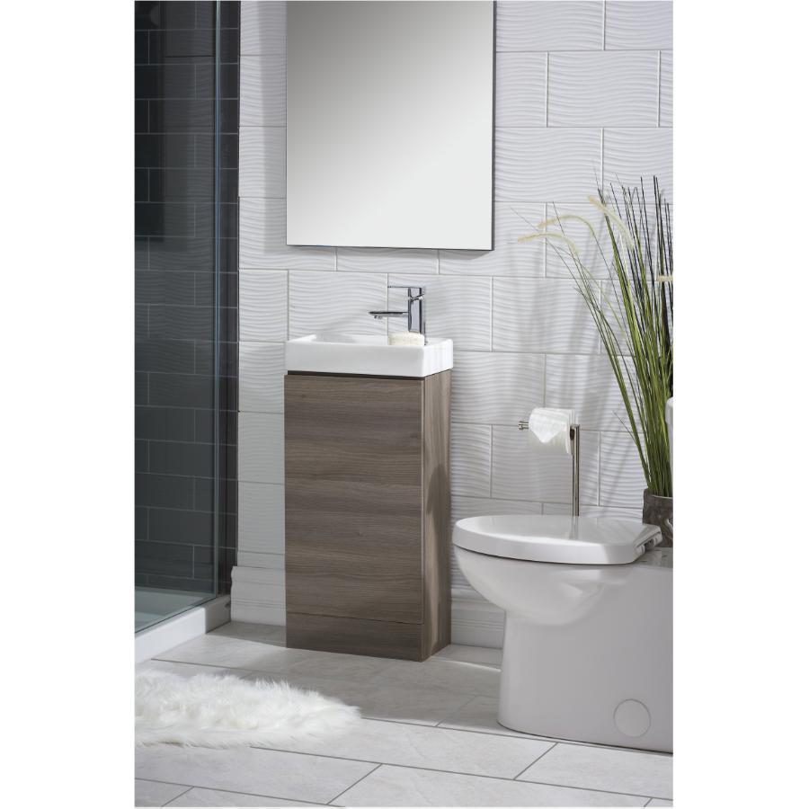 Essential: 1+3 Hole 1 Lever Handle Quadrato Chrome Square Design Lavatory Faucet