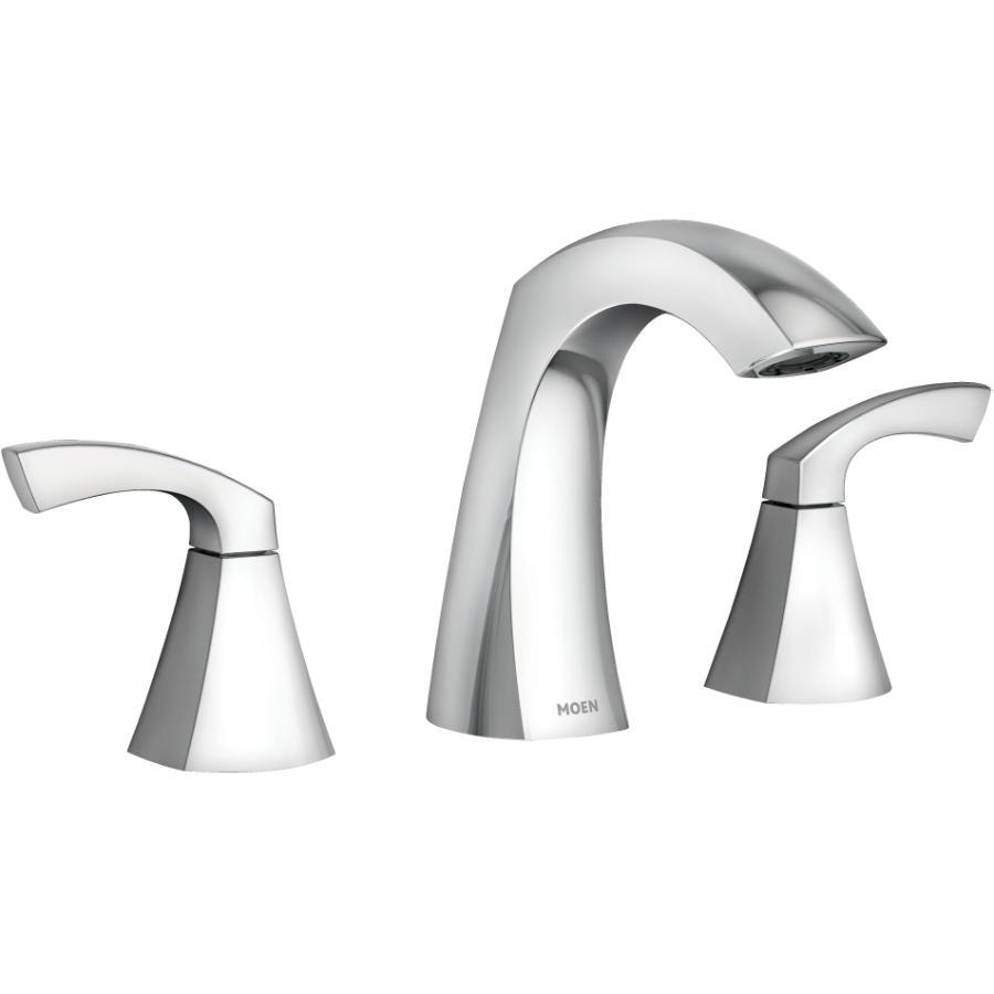 Moen Lindor Widespread Two Handle Lavatory Faucet - Chrome